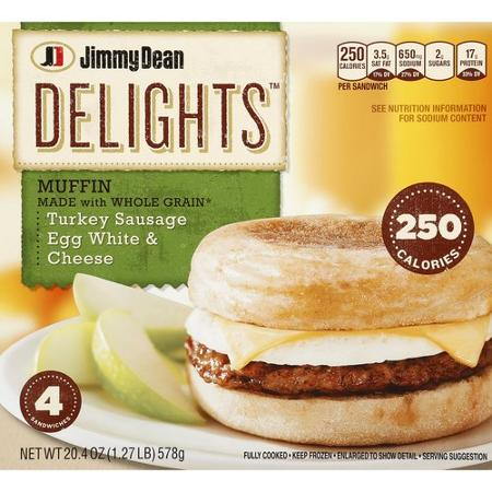 De West Wind Jimmy Dean Delights Turkey Sausage Egg White Cheese