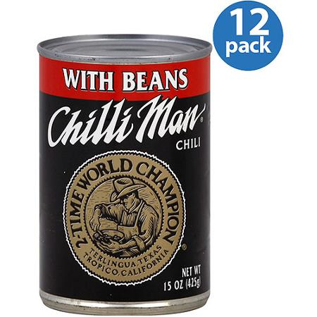 De West Wind Chilli Man Chili With Beans 15 Oz Pack Of 12