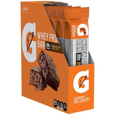 De West Wind Gatorade Recover Chocolate Chip Whey Protein Bars 6