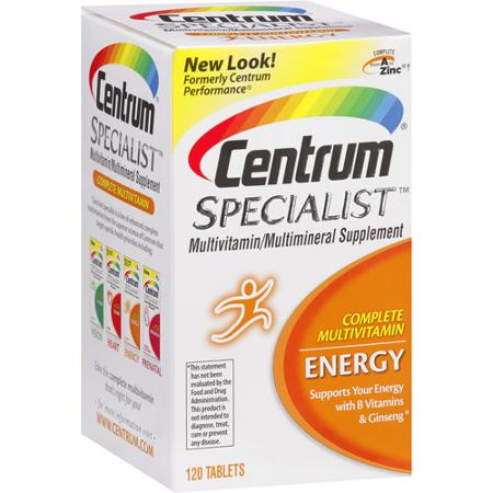 De West Wind Centrum Specialist Energy Multi Vitamin Multi Mineral Supplement 120 Count