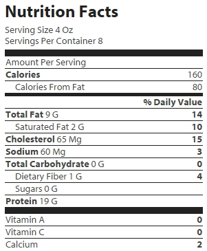 Catfish nuggets nutrition facts nutrition ftempo for Calories in fish